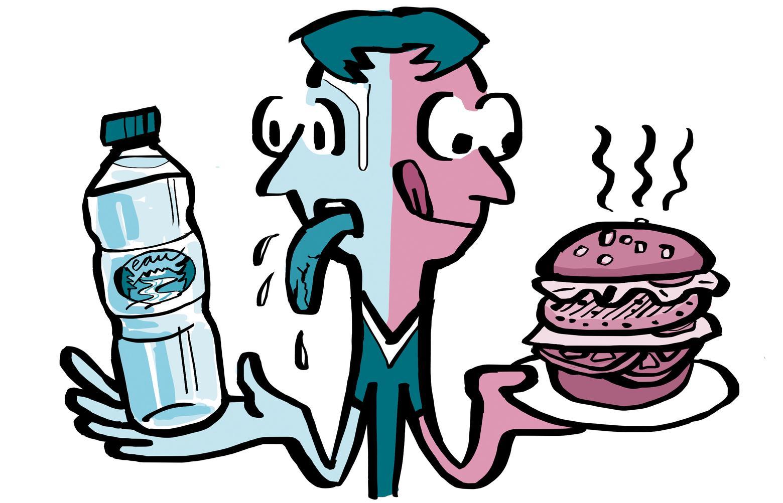 Как правильно утолять голод и жажду