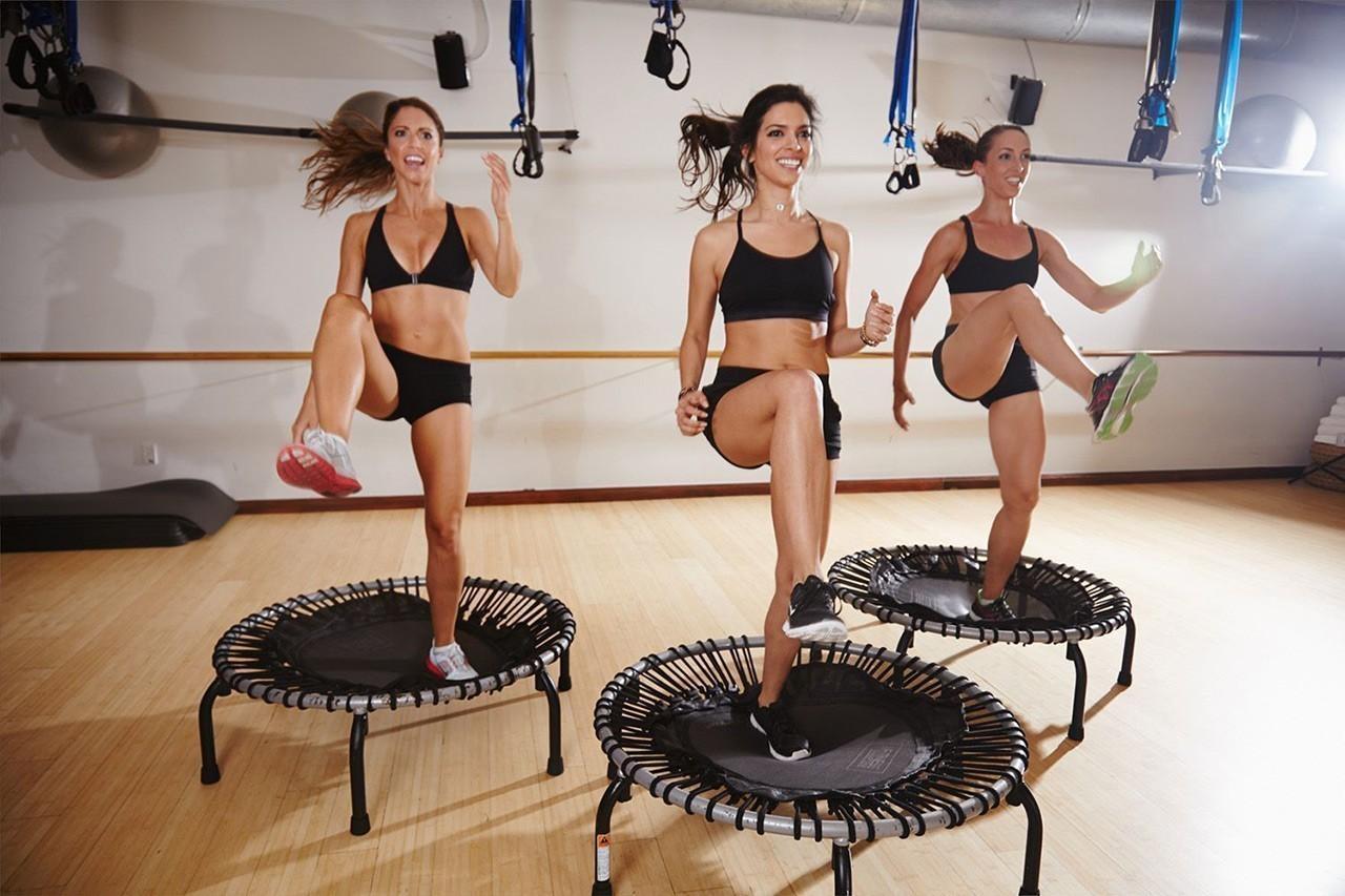 Тренировки на мини-батутах