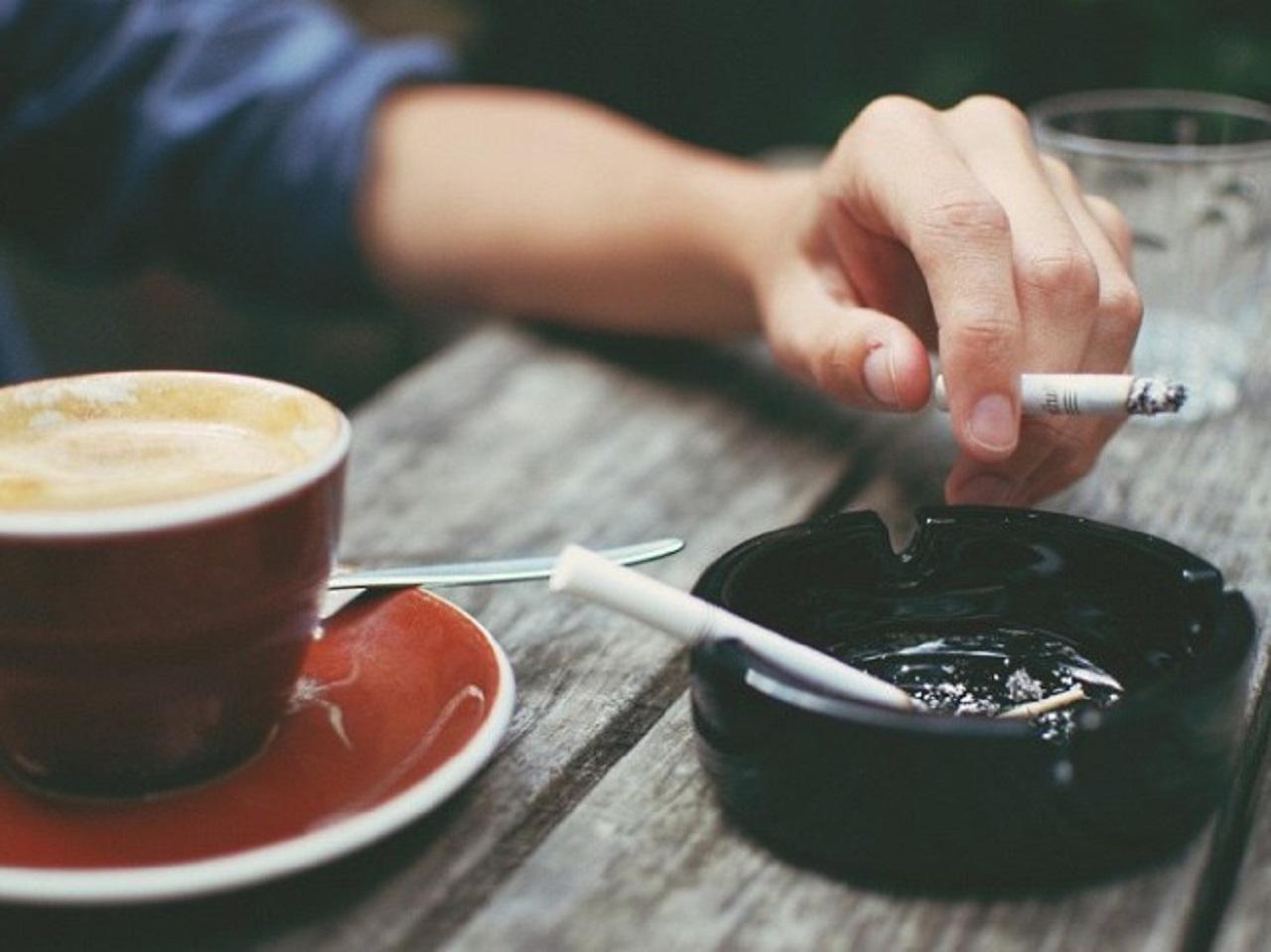 Кофе и сигарета натощак