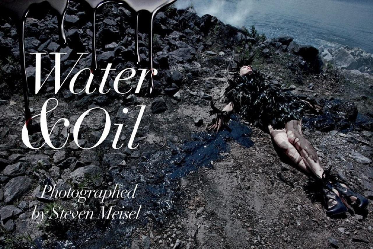 Вода И Масло / Стивен Мейзел / Vogue Italia Август 2010