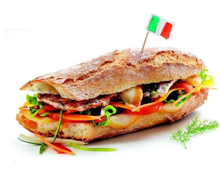 Италия: сэндвич со свининой