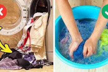 Вещи, которые нельзя стирать в машинке