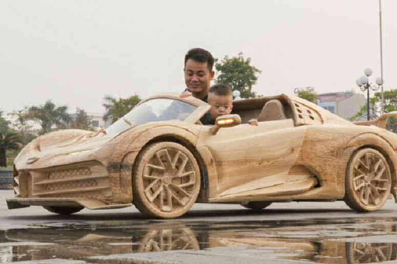 Деревянная копия Bugatti Centodieci