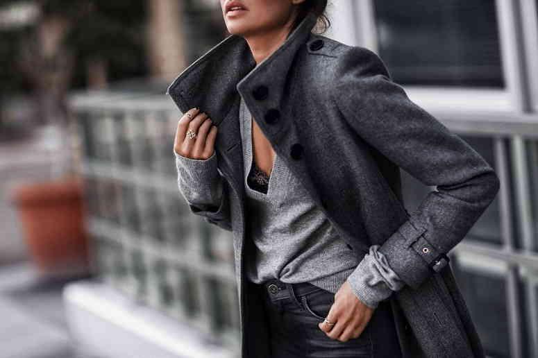 Пальто в мужском стиле